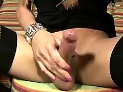 Sexy tranny gets hot cum in asshole