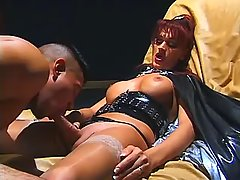 Lusty mistress shemale spoils dude