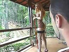 Exotic tgirl in lingerie get fucked
