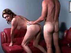 Hot shorty blows to depraved tranny