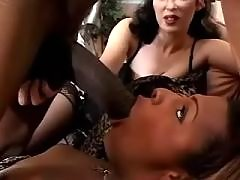 Ebony TS rubbing long pecker & jizz