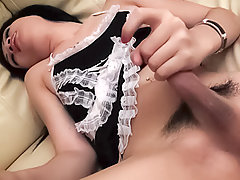 Femboy maid cums